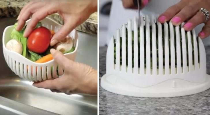 On dirait un récipient ordinaire, mais regardez comment il vous prépare une riche salade en 60 secondes!