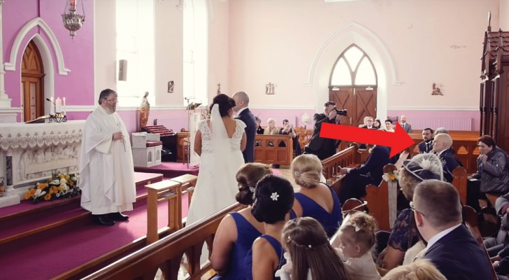 They flash-mobbed her wedding ceremony! Check it out!