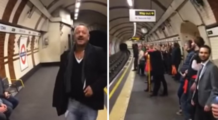 Un homme commence à chanter dans le métro: en un instant tout le monde s'unit à lui et... que le spectacle commence!
