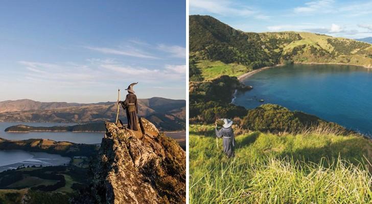 Iemand verkleedt zich als Gandalf en gaat naar Nieuw-Zeeland: De foto's zijn episch