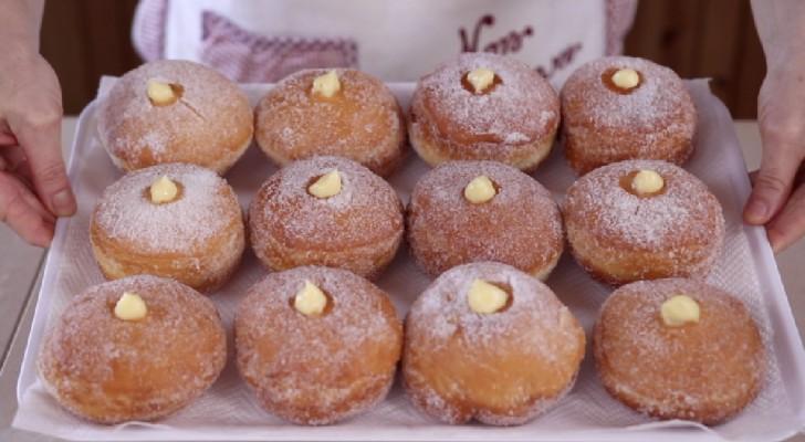 Rosquillas a la crema hechos en casa: como aquellos de la pasteleria y tambien mas buenos!