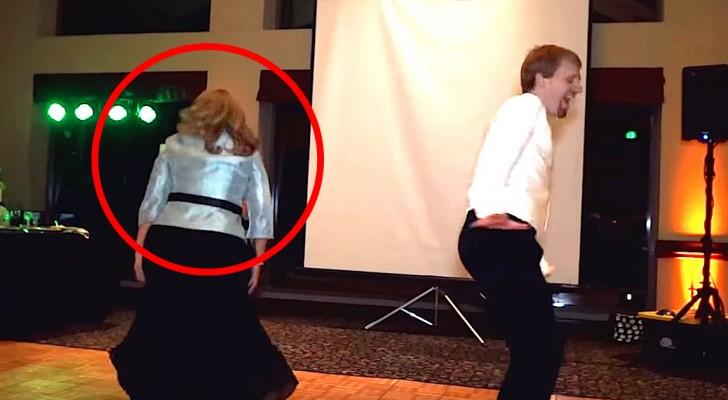 impressionnante danse au mariage entre m re et fils. Black Bedroom Furniture Sets. Home Design Ideas