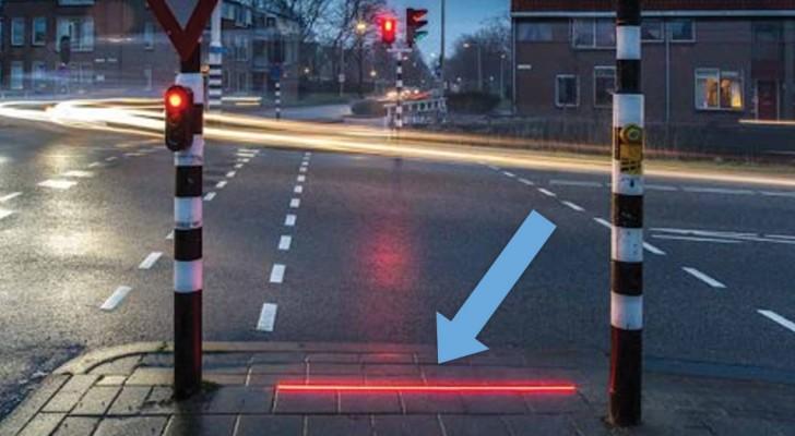 Questi semafori proiettano la luce a terra e salvano la vita ai pedoni distratti... Come te