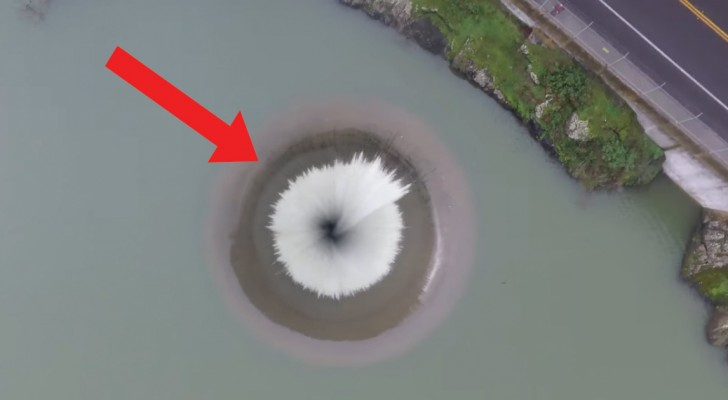 Deze drone vliegt over een waterafvoer: de beelden zijn fascinerend!