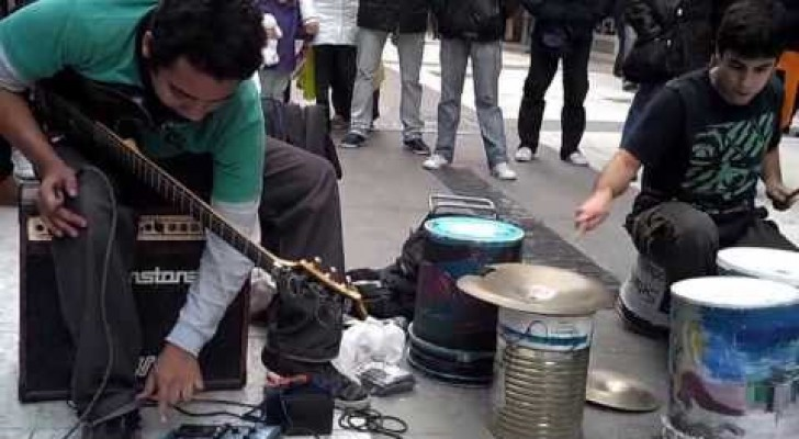 Techno music on the street .. Amazing !