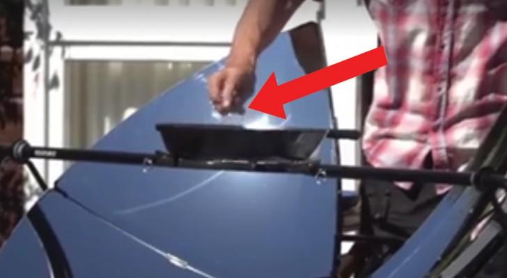Nada de carbon o gas, esta es el invento para cocinar al aire abierto aprovechando SOLAMENTE la energia solar