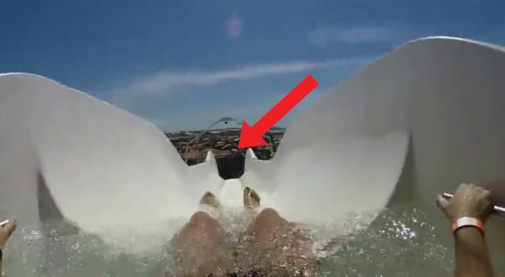 Un toboggan à des hauteurs vertigineuses: voilà le spectacle que l'on voit quand on se lance