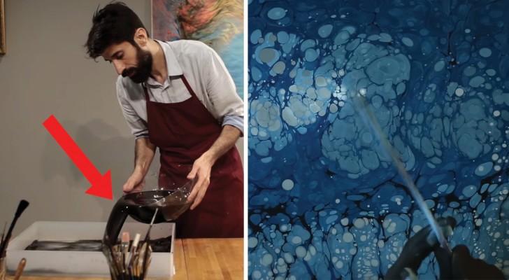L'art Ebru, une technique de peinture peu connue qui devient de plus en plus populaire