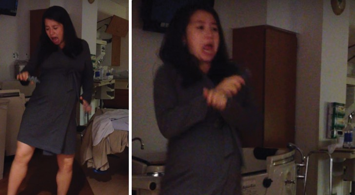 See how this woman is giving birth ... Gangnam Style!  :)