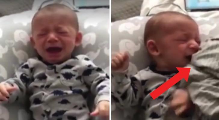 Das Neugeborene ist verzweifelt, weil es die Mutter will: der Vater beruhigt es in nur 1 SEKUNDE mit dieser Methode