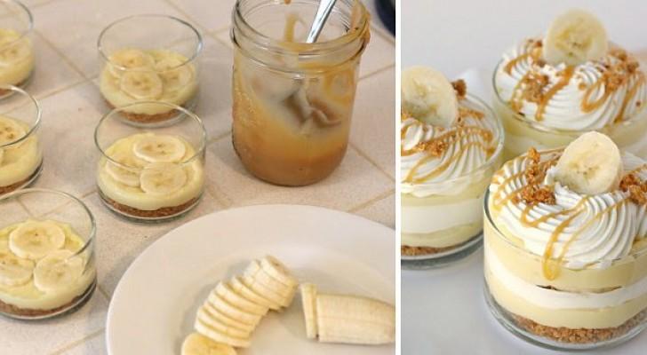 Un dessert alla banana così elegante e squisito non l'avete mai preparato