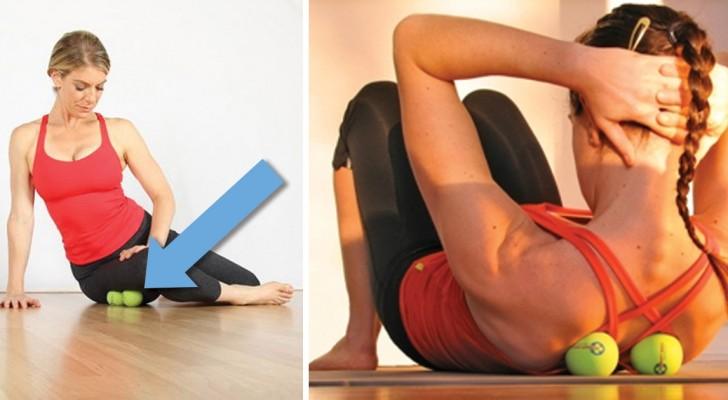 Ecco come alleviare i dolori più comuni al collo e alla schiena... Con una pallina da tennis