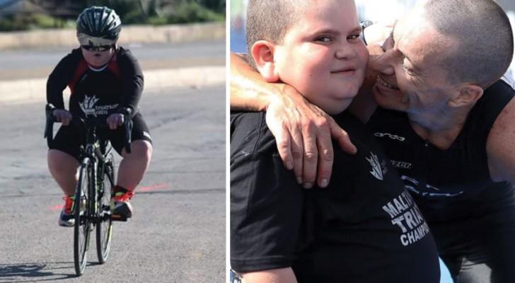 L'enfant qui se bat pour la vie en faisant le triathlon: l'histoire la plus tendre (et triste) que vous lirez aujourd'hui