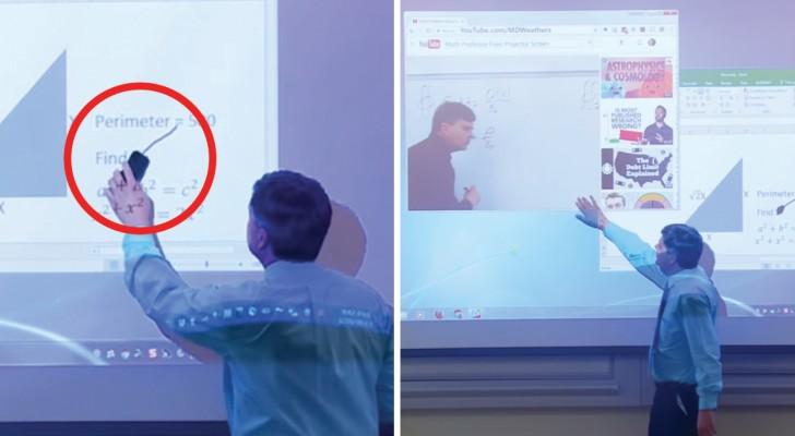 Questo professore ha usato il pennarello dove NON doveva. Come risolve il problema? Fantastico!