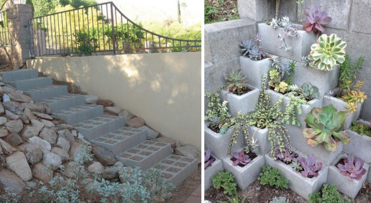 A fantastic DIY project --- A Cement Block Bench!