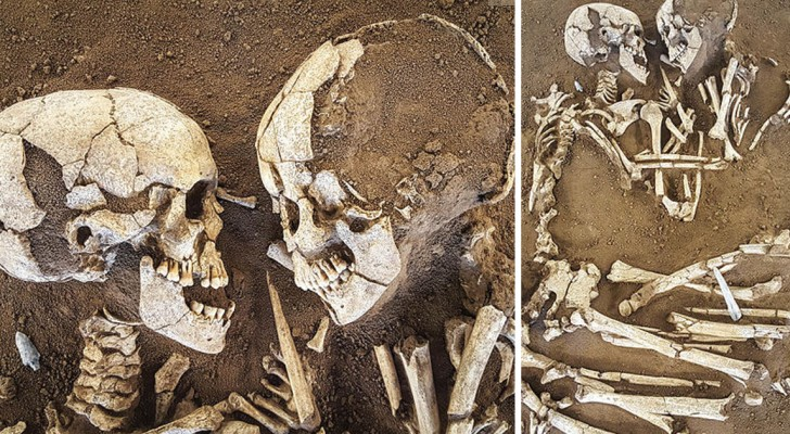 Ce couple de squelettes est ensemble depuis 6000 ans un - Aux portes de l eternite ...