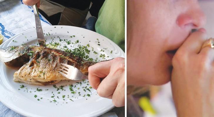 Vissengraat ingeslikt? Geen paniek, zo kom je in een keer van dat vervelende ding af