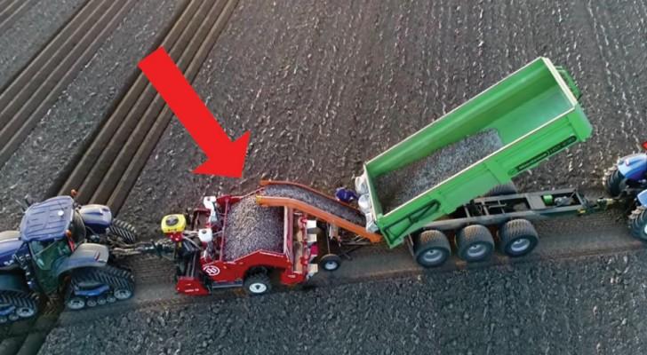 So werden heutzutage Kartoffeln gepflanzt...mit den neusten Maschinen!