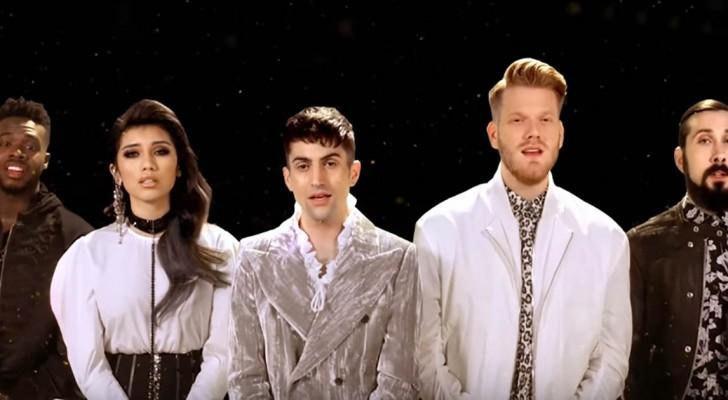 Sie singen das Lied von Elvis ohne Musikinstrumente: ihre Harmonie ist umwerfend