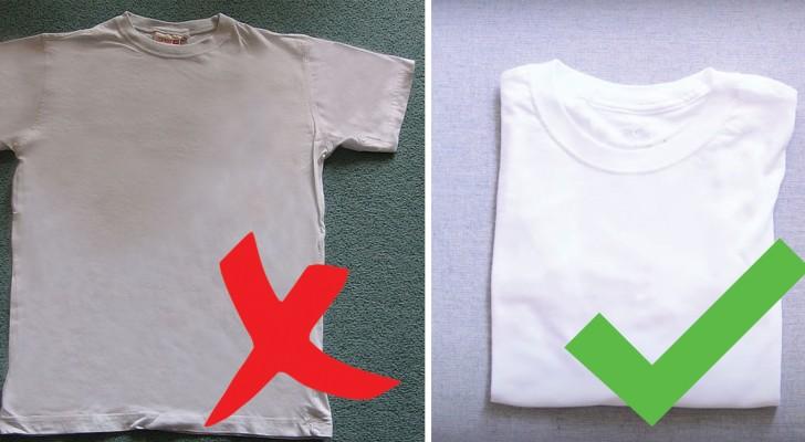 Non sapete come sbiancare i vostri vestiti? Nessun problema con questo trucco casalingo