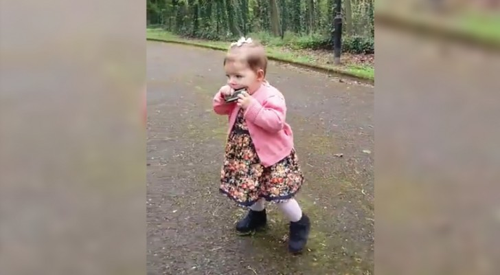 A toddler shows remarkable ability to play the harmonica!