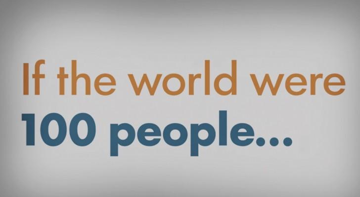Und wenn die Erde nur von 100 Menschen bewohnt wäre? Dieses Video wird euch die Augen in 2 Minuten öffnen