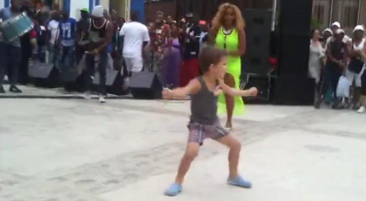 This little boy can dance like nobody's business!  Whoa!