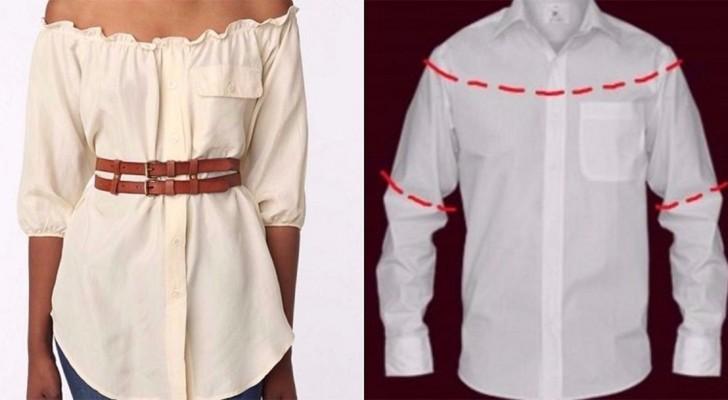 10 modi per trasformare le camicie da uomo in vestiti femminili: qual è quello che proverete a fare?