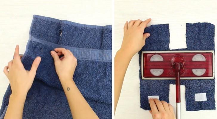 Wie man ein altes Handtuch für den Hausputz einsetzen kann...Kinderleicht!