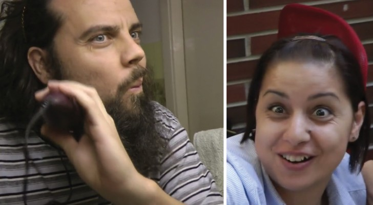 Look what happens when a man suddenly cuts off his beard!