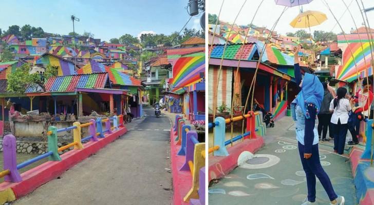 Da anonima baraccopoli a meta turistica gettonata: ecco il villaggio arcobaleno in Indonesia