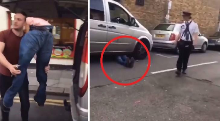 Il utilise les jambes d'un mannequin pour laisser le véhicule N'IMPORTE OU sans prendre aucune amende