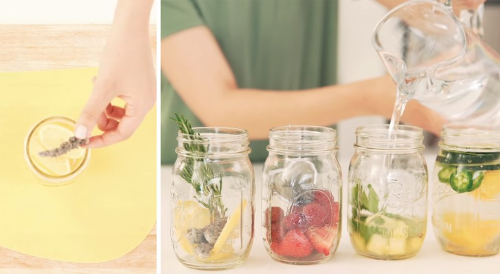 Quatro modos de preparar água aromática e se refrescar!