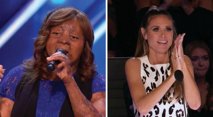 Elle chante pour vaincre un traumatisme: sa performance va émouvoir la salle entière