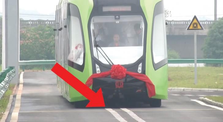 Diga adeus aos trilhos: nasce o primeiro tram que viaja sobre trilhos virtuais!