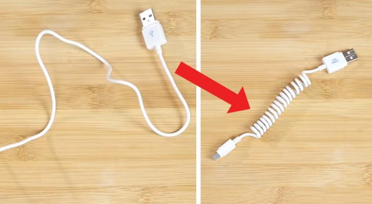 Como transformar um cabo normal em um espiral