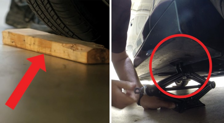 Changing a car wheel could not be easier! Watch this ...