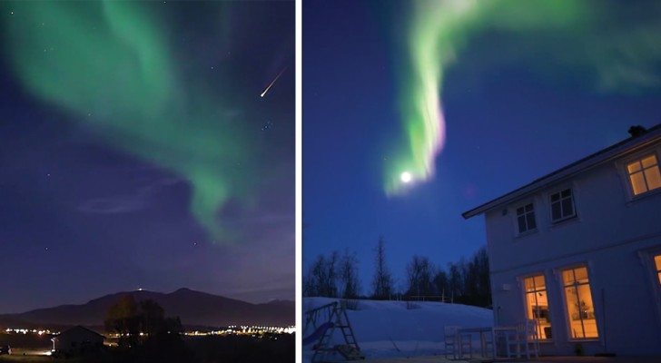 Coleccionan horas y horas de observacion del cielo: el video es un espectaculo de aurora boreal y estrellas cayendo