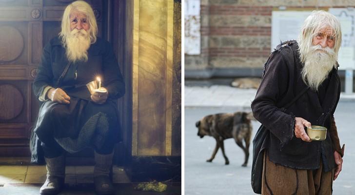Questo senzatetto di 103 anni guadagna molti soldi ma non tiene neanche un centesimo per sé