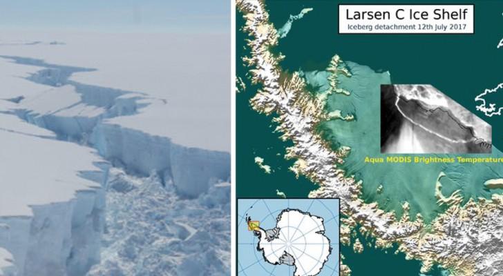 Een van de grootste ijsschotsen van de Zuidpool breekt af: experts hebben weinig twijfels over een van de oorzaken