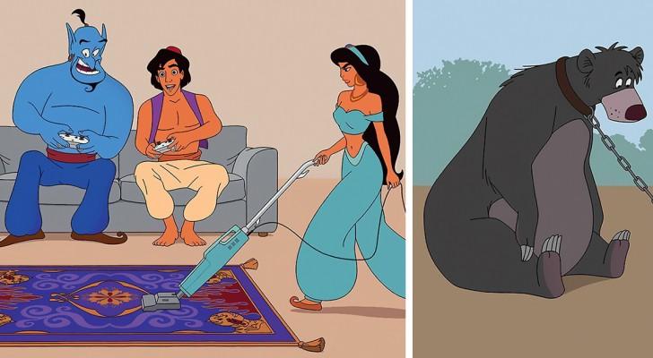 Un illustratore immagina i personaggi Disney ambientati nella vita reale: ecco come apparirebbero