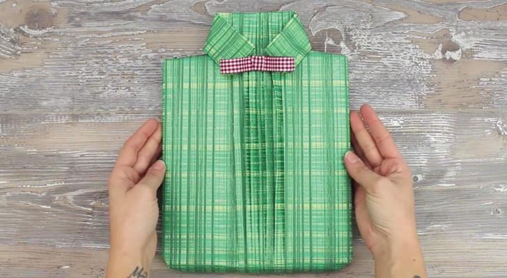 Impara come creare un pacchetto regalo a forma di camicia... è più facile di quanto pensi!