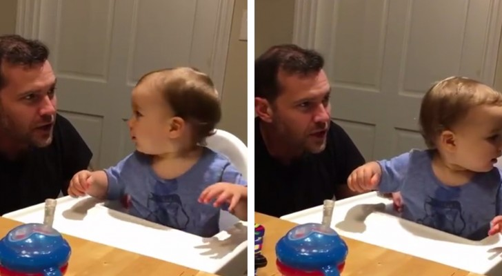 Beatbox Baby loves his Daddy's beatbox sounds!