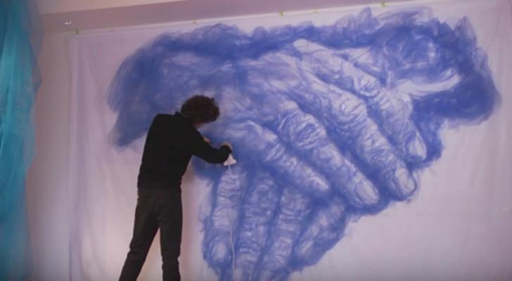 Questo artista realizza le sue opere con un ferro da stiro: scoprite il suo segreto