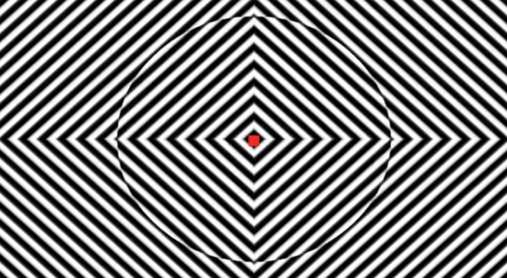 Fijar el punto rojo de este video por 90 segundos les dara una idea de que cosa son las alucinaciones