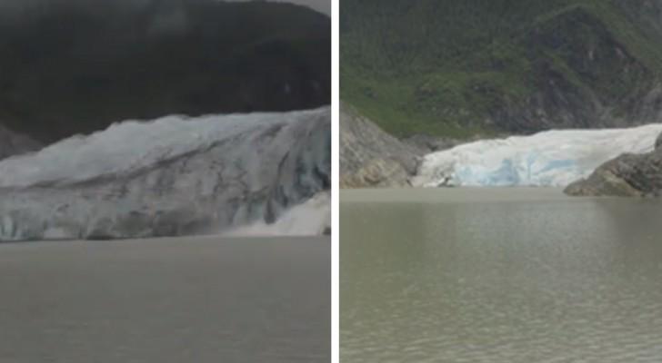 Como ha cambiado el glaciar Mendenhall en 8 años: un time-lapse que da escalofrios