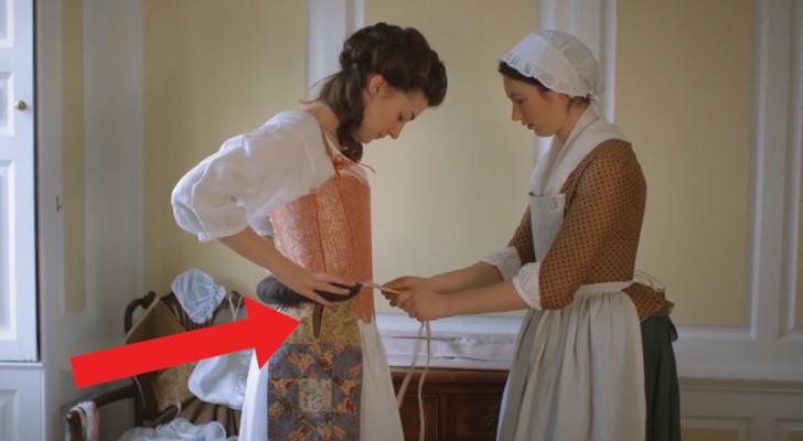 Cuanto tiempo empleaba en vestirse una dama del setecientos? Este video nos muestra todo el proceso
