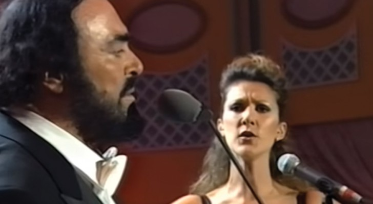 Céline Dion raggiunge Pavarotti sul palco: il loro duetto è la cosa più emozionante che sentirete oggi