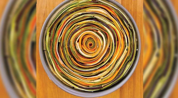 Una base ai formaggi e verdure a fette: ecco come preparare una deliziosa e bellissima torta salata