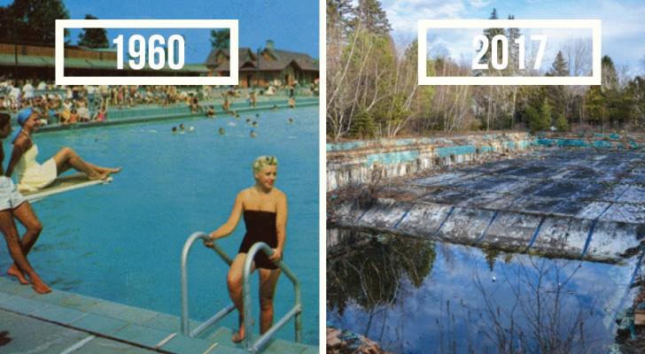 Il retrouve les lieux des cartes postales des années 1960 et le résultat est surprenant